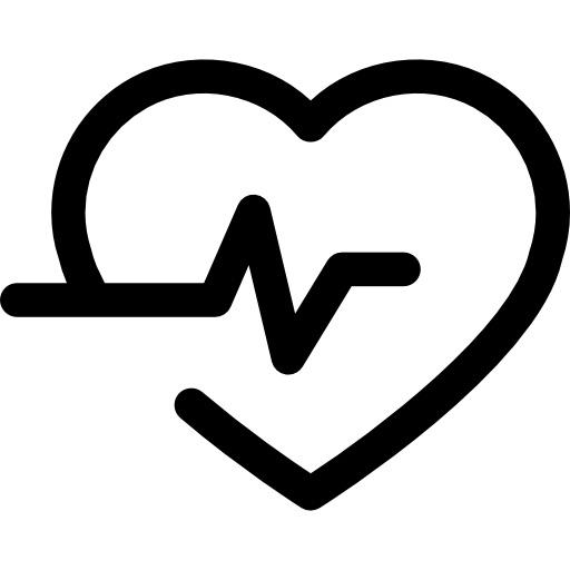 lifeline in a heart outline